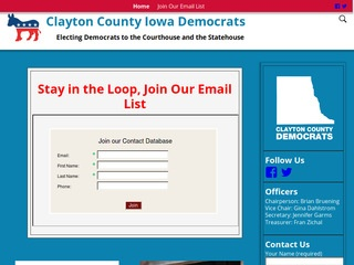 Clayton County Iowa Democrats