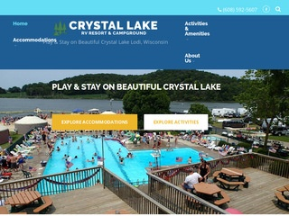 Crystal Lake Campground, Lodi WI