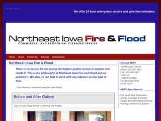 Northeast Iowa Fire and Flood